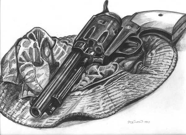 hat with gun Drawing image