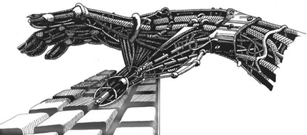 Mechanical hand art - photo#28