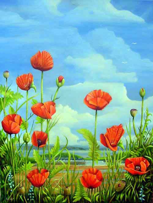 Poppies Painting Image
